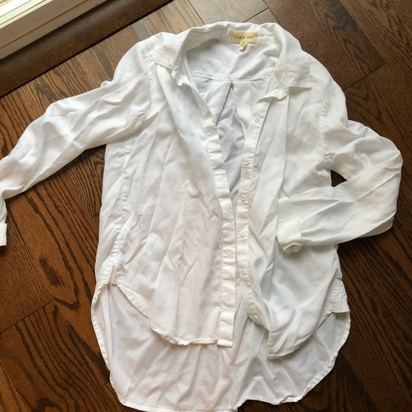 cloth & stone Tops - Cloth and stone high low dress shirt